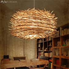 hand woven rattan modern high quality led pendant lights creative