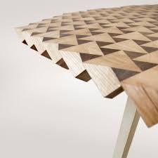 wood geometric atlas table in geometric wood by fundamental homeli