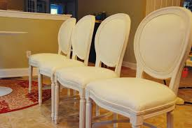 Ostrich Upholstery Before And After Louis Style Dining Chairs
