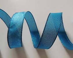 wire edged ribbon 2 5 peacock feathers wired ribbon fabric peacock wedding