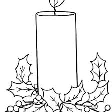 horizontal stripe christmas candle coloring pages horizontal