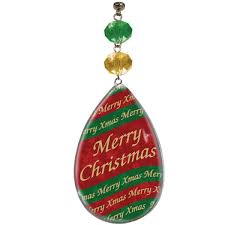 printed merry magnetic ornament set 3 magnetic