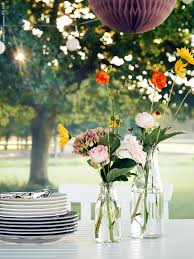 garden party inspiration ensidig vases from ikea in different