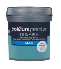washable paint for walls colours durable lush lagoon matt emulsion paint 50ml tester pot