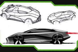 lamborghini sketch munich university students dream up future lamborghini models