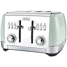Breville 4 Slice Smart Toaster Breville Strata 4 Slice Toaster Matt Green Amazon Co Uk