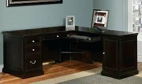 Black L Shaped Computer Desk Black L Shaped Computer Desk Black Glass Kidney Shaped Computer