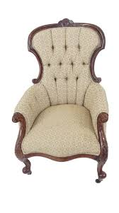 victorian upholstered carved walnut parlor chair vintage english chair vintage victorian parlour chair