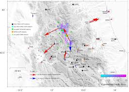 Italy Earthquake Map by Co Seismic Displacements For The August 24 2016 Ml6 Amatrice