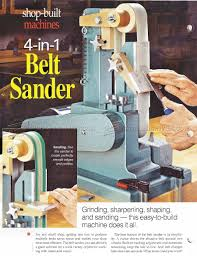 2240 belt sander plans sanding wood sharpening mikes