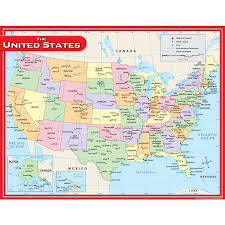 Us Map Image Us Map Chart Tcr7657 Teacher Created Resources