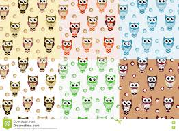 kids seamless pattern with owls owl endless background texture