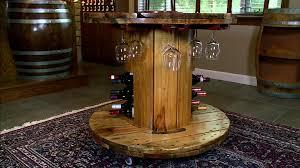 vino tavolo wooden wine table video diy