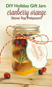 potpourri diy holiday gift jars cranberry orange stove top potpourri