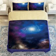 Galaxy Bed Set New Galaxy Bed Set Earth Moon Print Gorgeous Unique Design Outer