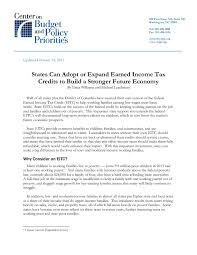 How Much To Build A House In Ma States Can Adopt Or Expand Earned Income Tax Credits To Build A