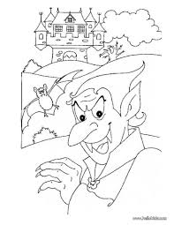 dracula haunted castle coloring pages hellokids