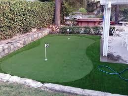 Synthetic Grass Backyard Synthetic Grass Gisela Arizona Putting Green Carpet Backyard