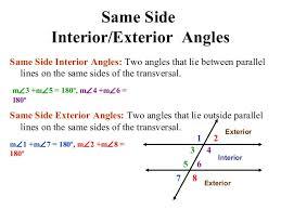 Interior Exterior Angles Parallel Lines Amp Transversals Edited