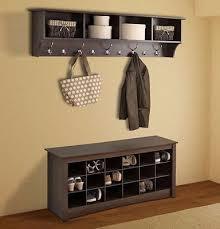 prepac furniture wall mounted coat rack 9 hooks hanging hanger