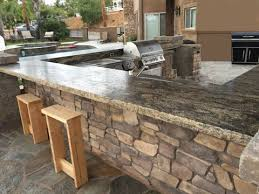 outdoor kitchen countertop ideas outdoor kitchen granite countertops throughout decor 0