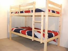 Ft  Small Single Solid Pine HEAVY DUTY LOW Bunk Bed - Small single bunk beds