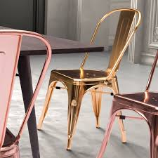 Gold Dining Room Chairs Zuo Modern Elio Dining Chair Rose Gold Hayneedle