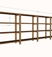 Basement Shelves Woodworking Plans by 2x4 Garage Shelves 2x4 Storage Shelves Plans Basement Plans