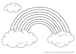 printable 31 rainbow coloring pages 561 black and white rainbow