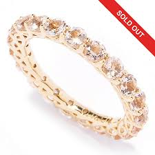 gold and morganite ring gem treasures 14k gold morganite eternity band ring