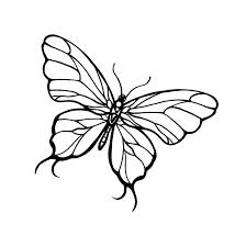 simple black line butterfly tattoo design tattooimages biz