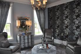 black and purple living room wallpaper house design ideas