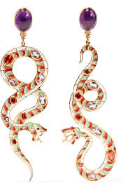 percossi papi earrings percossi papi gold plated enamel and multi earrings net