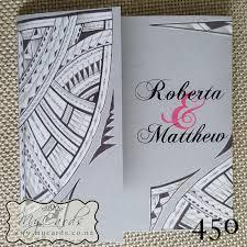 wedding invitations island pacific island pattern pink grey wedding invitation mycards akld