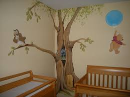 nursery mural wall cartoon themed painting showcase how to a winnie the pooh nursery mural