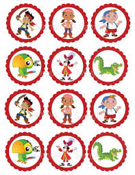 jake and the neverland pirate printable cupcake toppers favor
