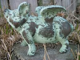 cast iron flying pig cast iron decor flying pig garden