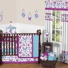 babies purple crib bedding sets