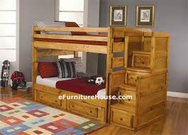 Wooden Bunk Bed Twin Over Twin Bunk Bed With Trundle Photos Of - Kids wooden bunk beds