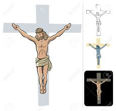 illustration of the crucified jesus royalty free cliparts vectors