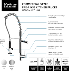 kraus kpf1602ksd30ch single lever spiral spring kitchen faucet