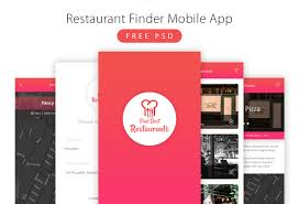 restaurant finder mobile app free psd download download psd