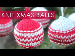 how to knit ornaments we are