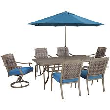 Patio Furniture Set With Umbrella - signature design by ashley partanna outdoor dining table set with