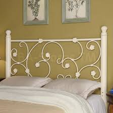 fascinating white wrought iron headboard including best ideas