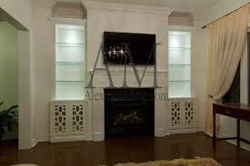 Built In Bookshelves Around Tv by Build In Wall Tv Entertainment Units Custom Bookcases Tv Great