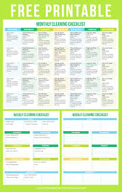printable house cleaning schedule the best free printable cleaning checklists sarah titus