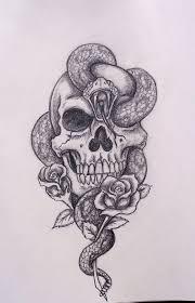 skull snake roses by davart11 on deviantart