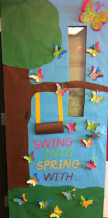 thanksgiving classroom door decorations swing into spring classroom door decorations pinterest