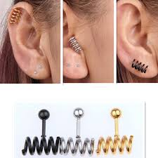 allergy earrings new stainless steel prevent allergy men jewelry titanium hot